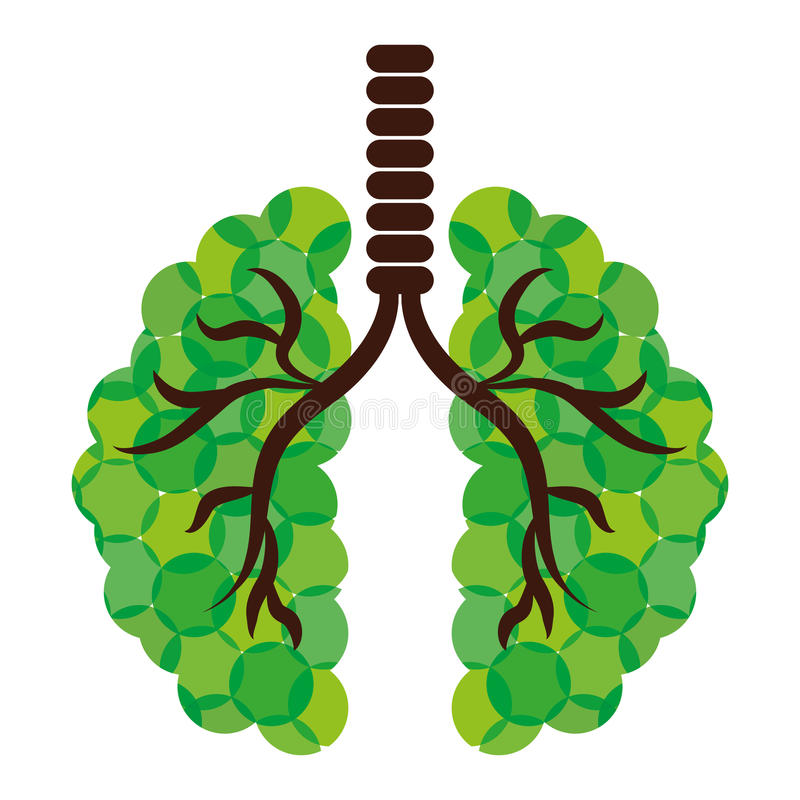 Green lungs of branches icon image. Illustration royalty free illustration