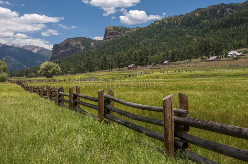 Rocky Mountain Ranch Country royalty free stock photography
