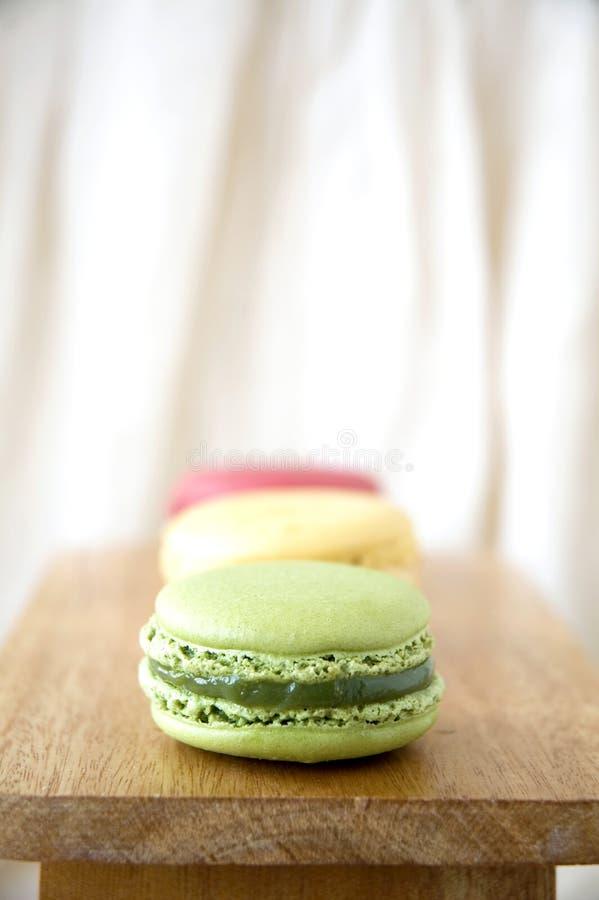 Download Green macaron in line stock image. Image of parisian - 27234991