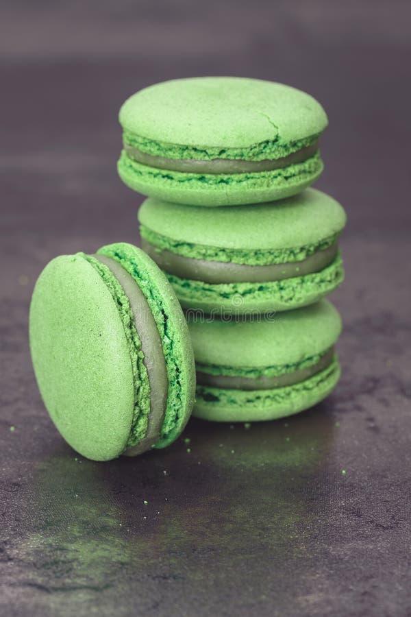 Green macaron stock images