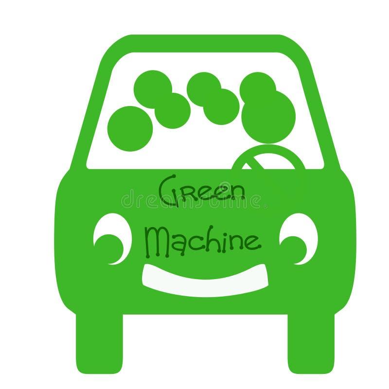 Green machine carpool stock illustration