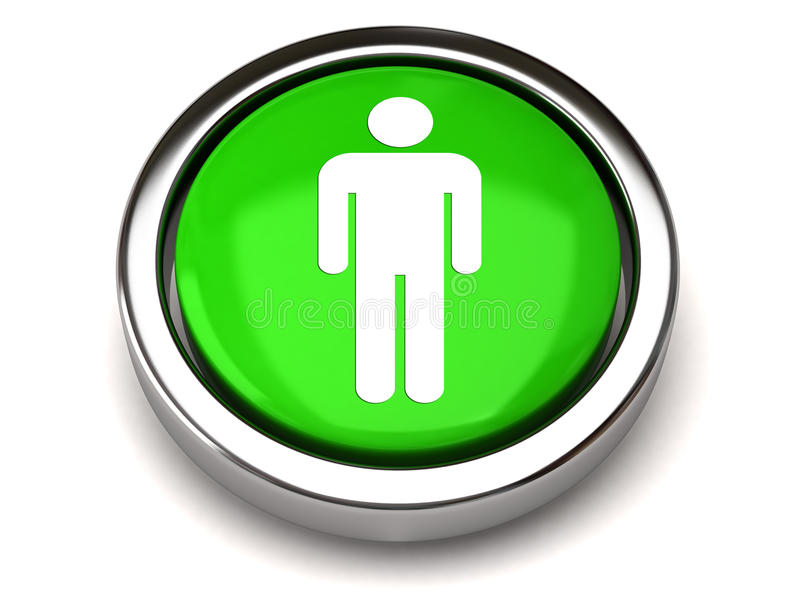 Download Green male icon stock illustration. Image of accessible - 20377323