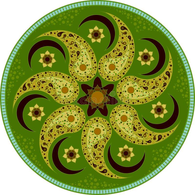 Green mandala 1 royalty free stock images