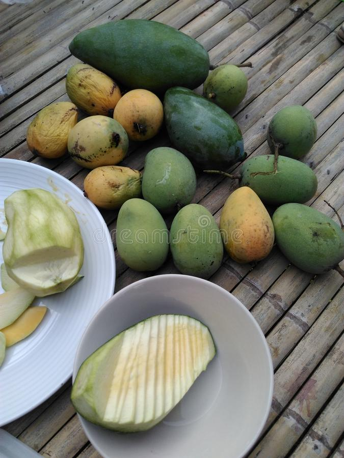 Green mango royalty free stock images