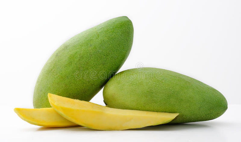 Green Mangoes stock photo