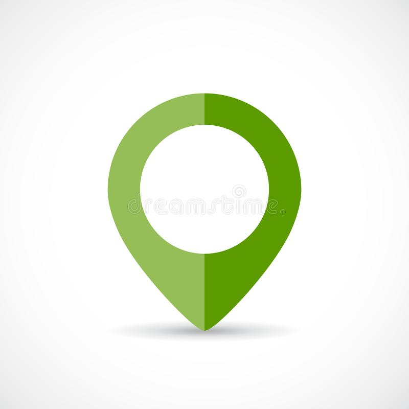 Green map marker. You are here royalty free illustration