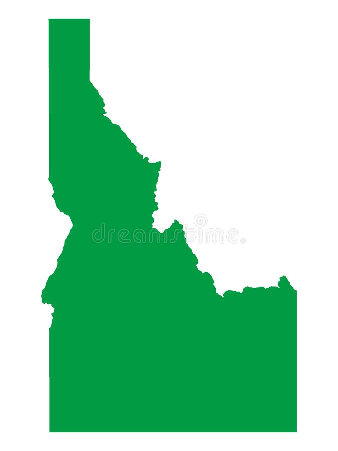 Green Map of US State of Idaho. Vector Illustration of the Green Map of US State of Idaho vector illustration