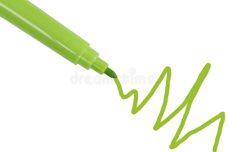 Green Marker Royalty Free Stock Image