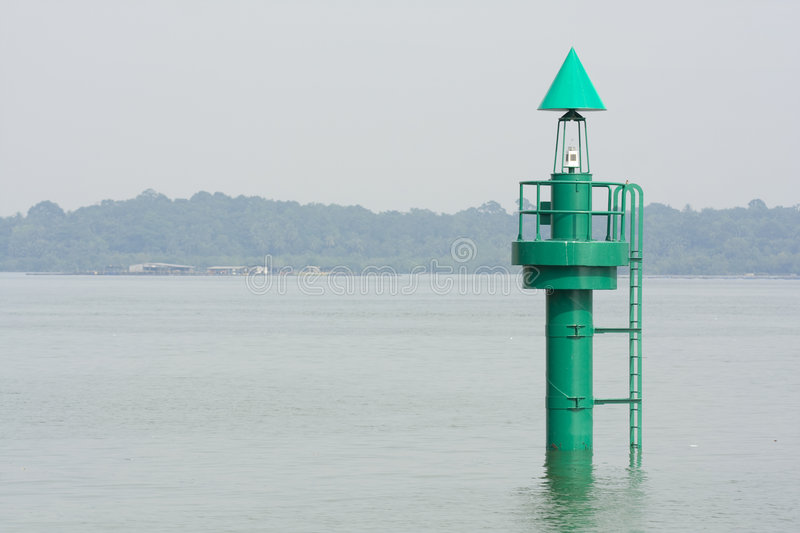 Green Marker Buoy stock images