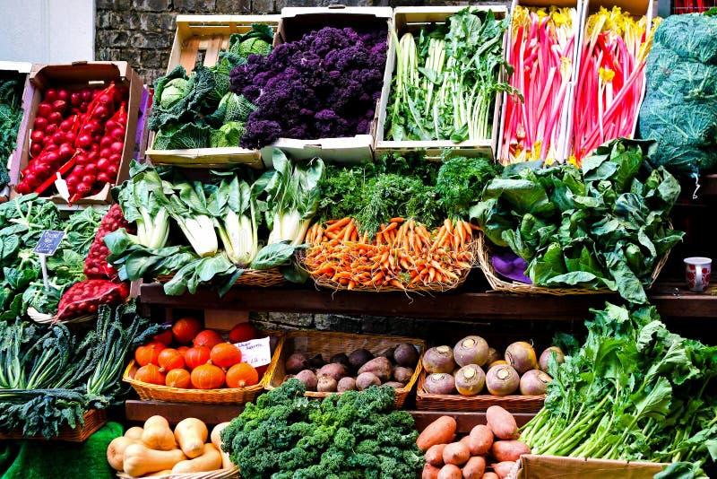 Green market stock photo