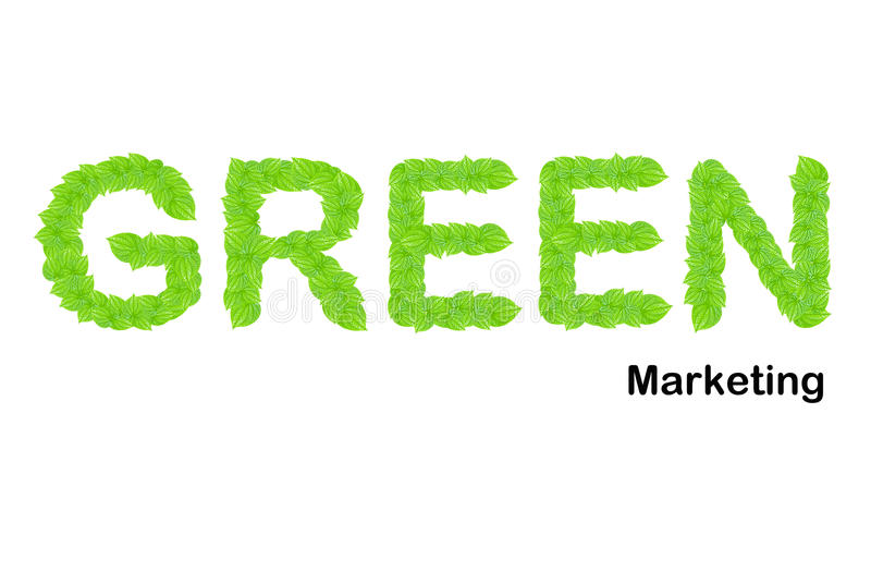 Download Green Marketing Word Made Up From Green Leafs Stock Image - Image: 22519469