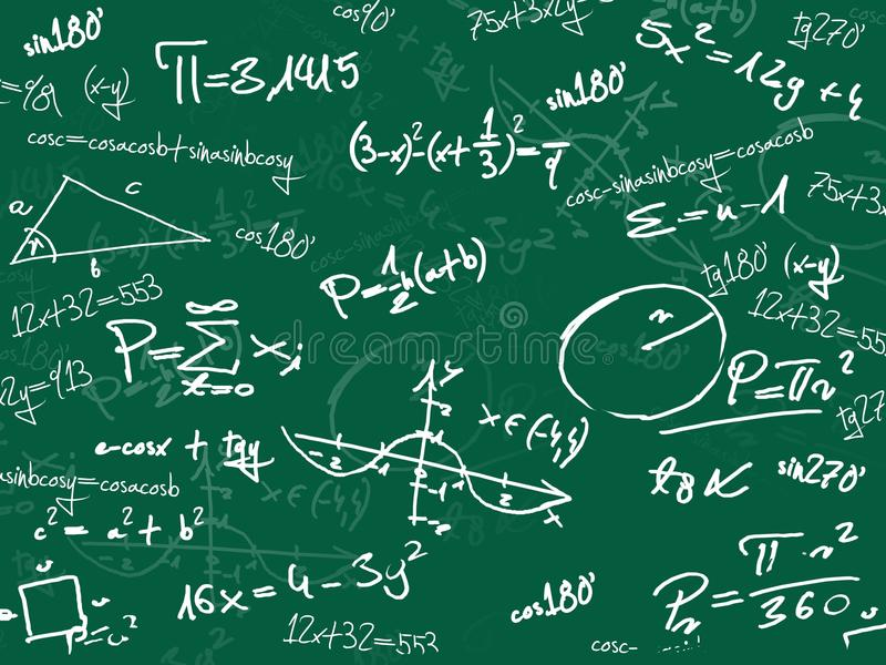Download Green Math School Blackboard Stock Illustration - Image: 19804333