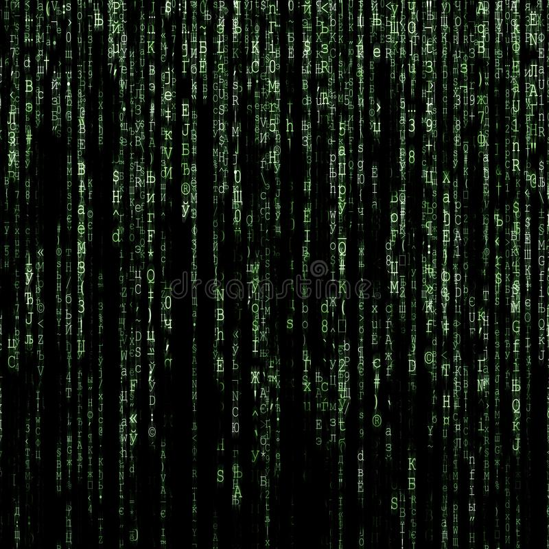 Green matrix background royalty free stock image