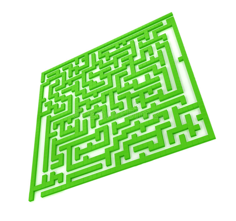 The green maze stock images