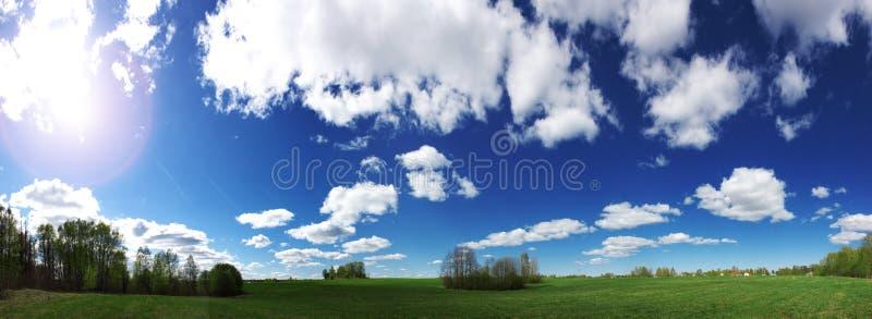 Green meadows royalty free stock photos