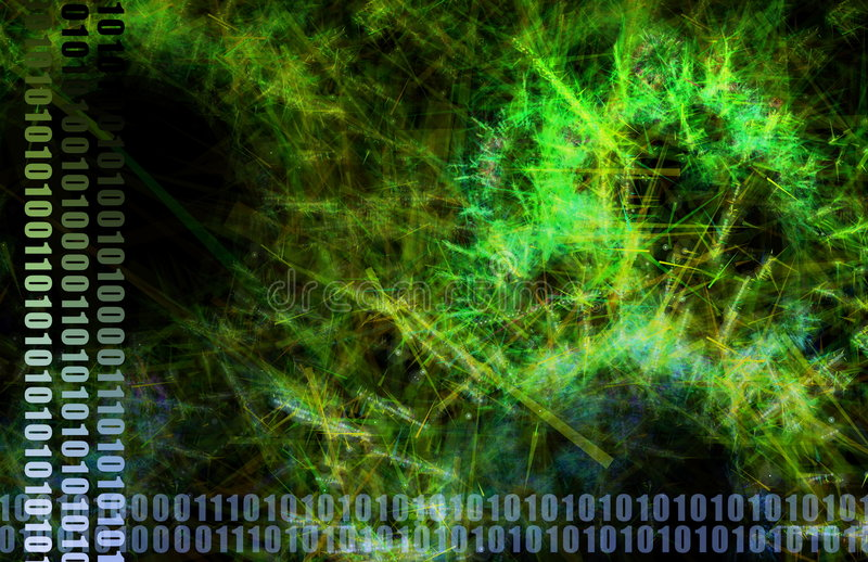 Green Medical Science Futuristic Technology Stock Image