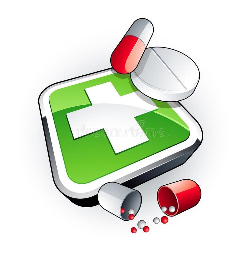 Green medicine vector illustration
