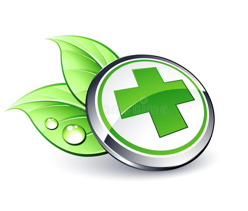 green medicinen arkivfoto
