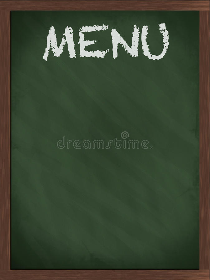 Green Menu blackboard royalty free stock image