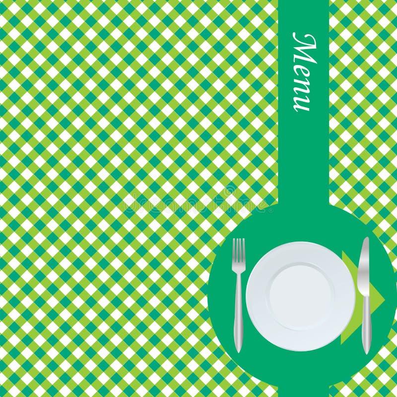 Green menu card royalty free illustration