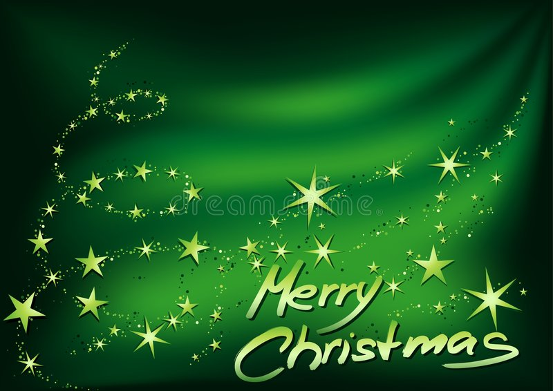 Download Green Merry Christmas stock vector. Image of stars, grunge - 3520653