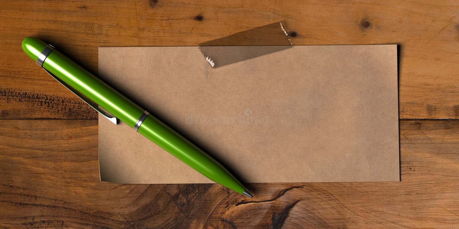 Download Green message stock illustration. Image of write, wooden - 19902337