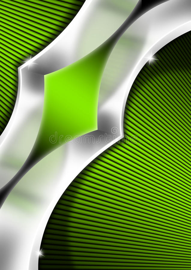 Green And Metal Business Background Stock Photography
