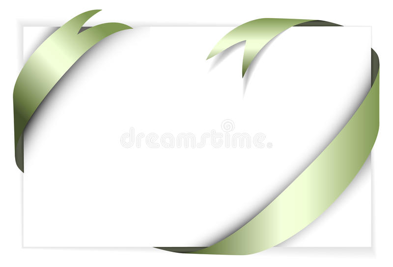 Download Green Metal Vector Ribbon Around Blank White Paper Stock Vector - Illustration of background, birthday: 12891584