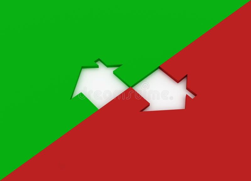 Download Green metaphor house stock illustration. Image of background - 12705655