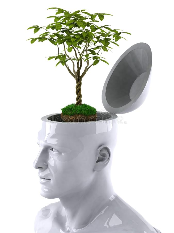 Download Green mind stock illustration. Image of abilities, green - 9800643