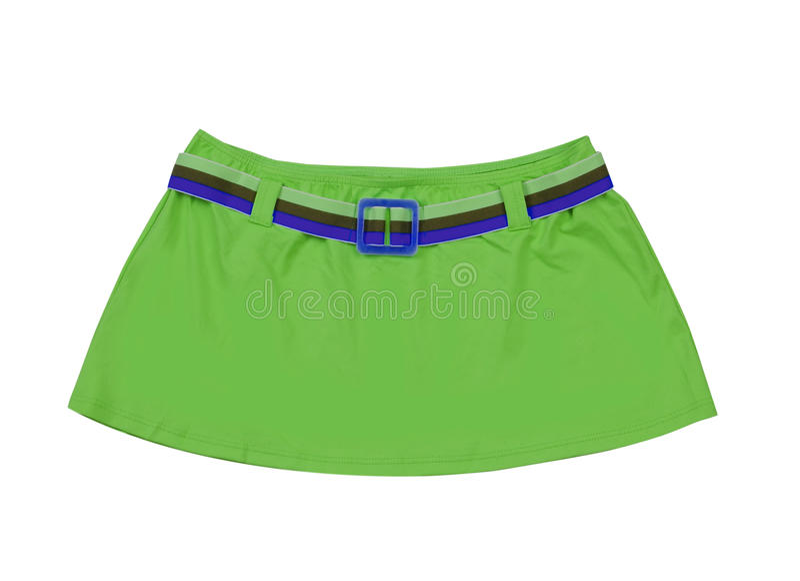 Green miniskirt stock photography