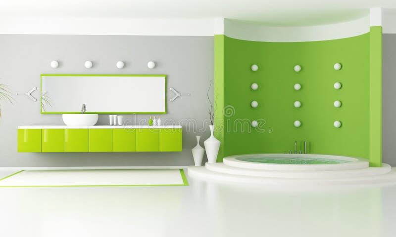 Green modern bathroom royalty free stock photos