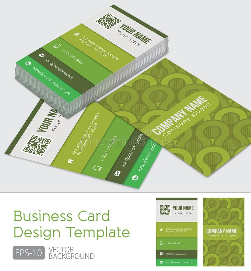 Green Modern business cards design template royalty free illustration