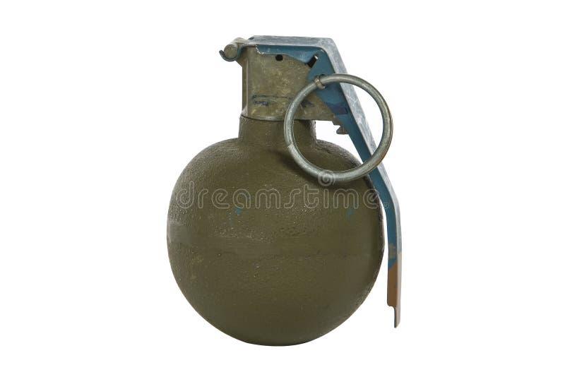 Green modern hand grenade royalty free stock photography