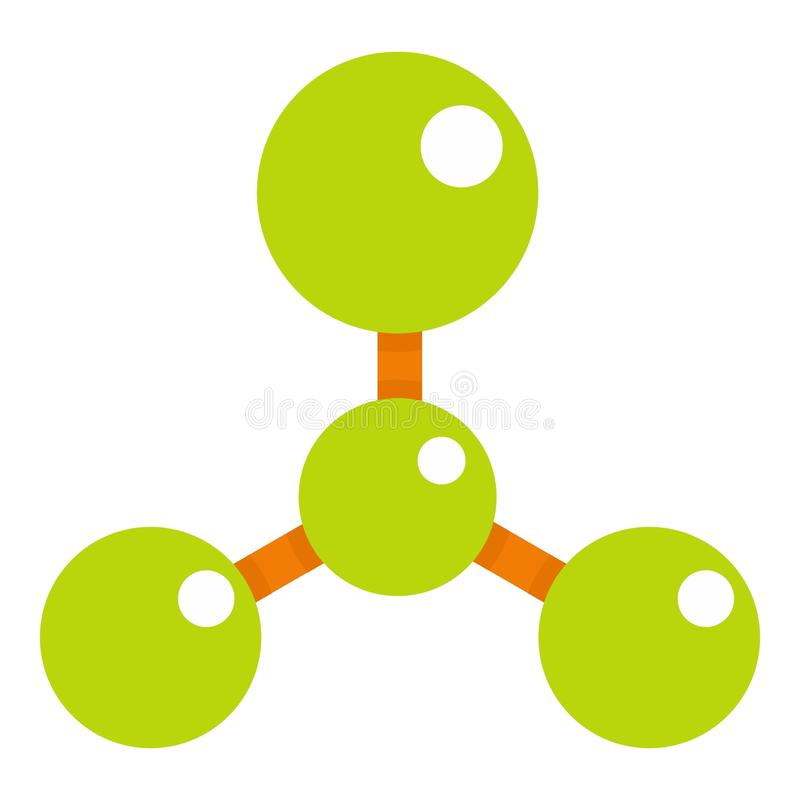 Green Molecule Structure Dna Icon Stock Vector Illustration Of