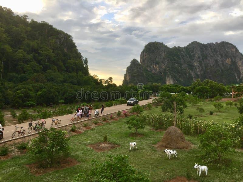 Green Mountain at Baan Chai Khao View Point, Thailand royalty free stock photo