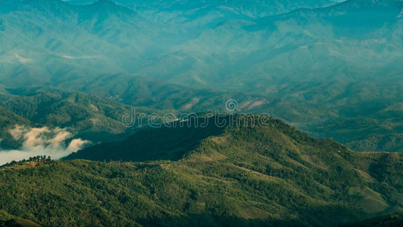 Green Mountain in Thailand. Green Mountain with Fog in Thailand royalty free stock photos
