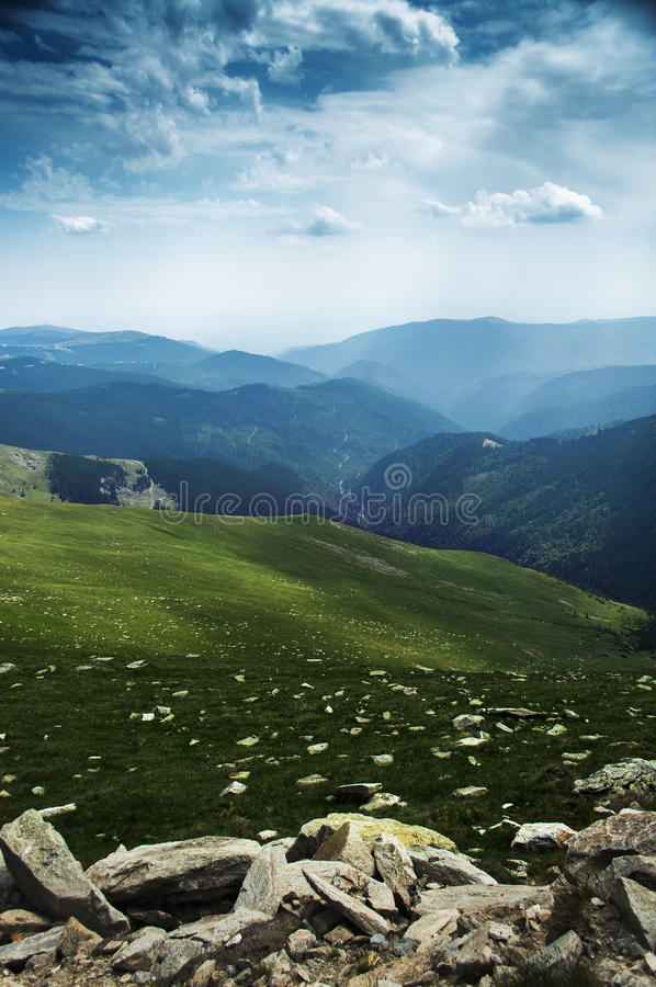 Green mountain landscape stock photography