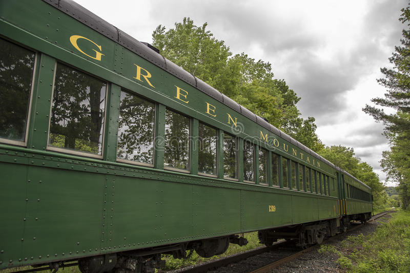 Green Mountain Railroad. The Green Mountain Railroad is a tourist train that operates in White River Junction, Burlington, and Bellows Falls Vermont royalty free stock images
