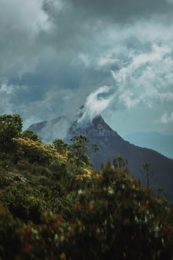 Green Mountain Under Blue Sky royalty free stock photos