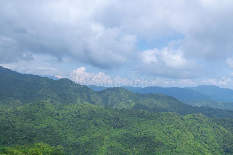 Green mountains and blusky royalty free stock photography