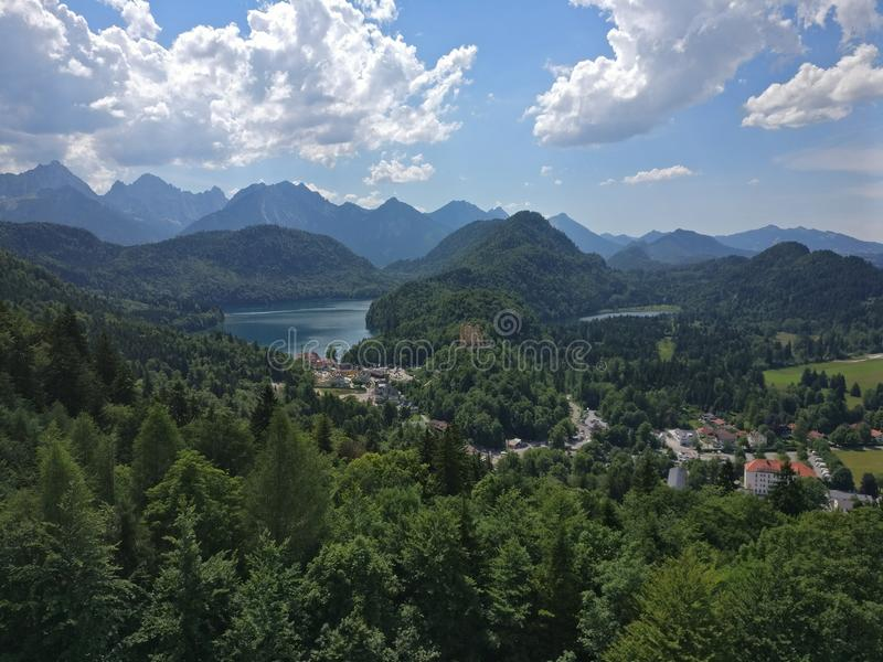 Green mountains stock photography