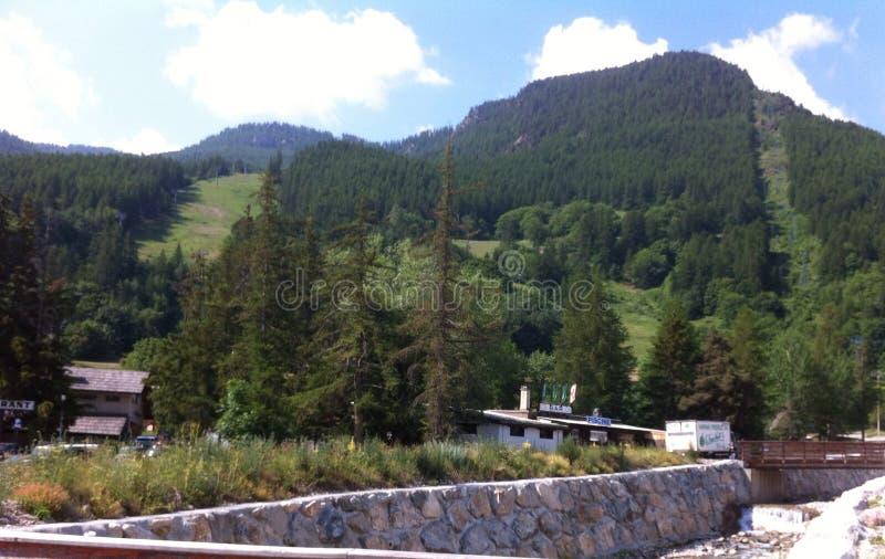 Green mountains stock image