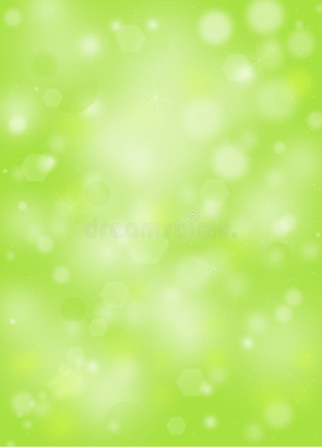 Green natural background with bokeh and ray of lights vector illustration