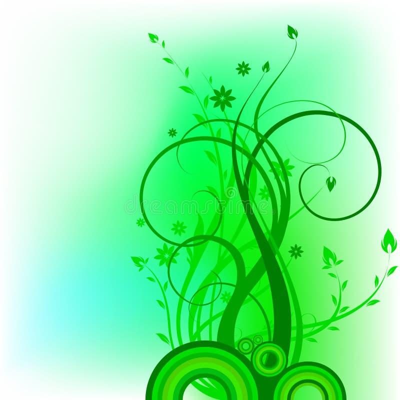 Green_natural_pattern stock illustrationer