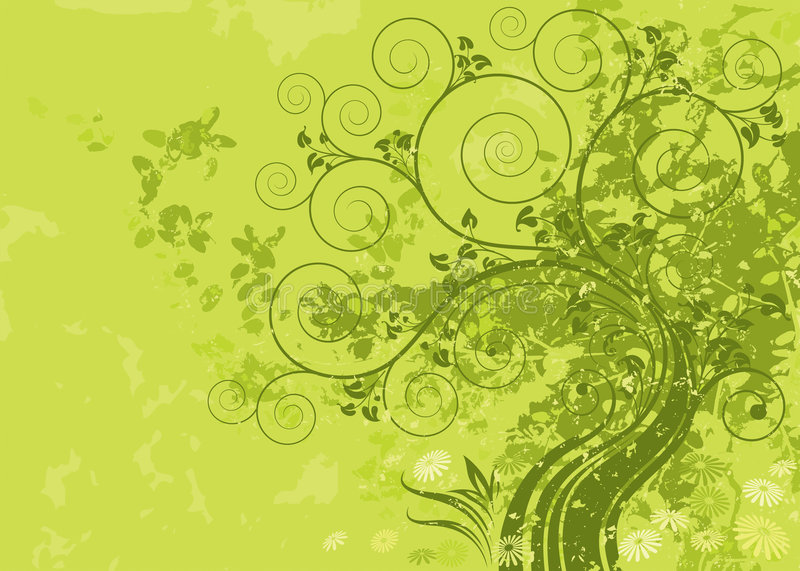 Green Nature. Green abstract nature with grunge background. Vector layered