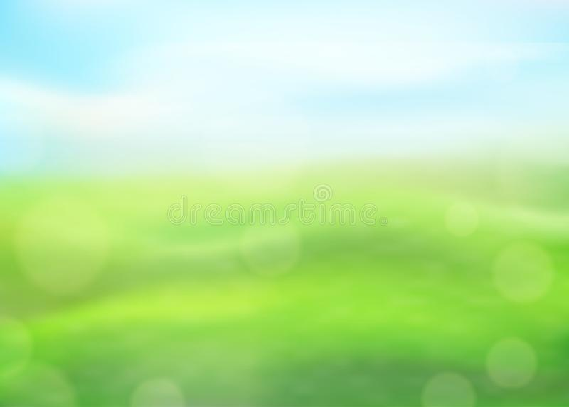Green Nature Vertical Background On A Blurred Of Grass And