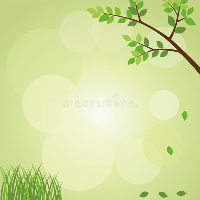 Green Nature Background vector illustration