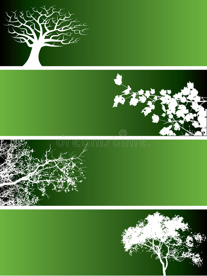 Green nature banners vector illustration