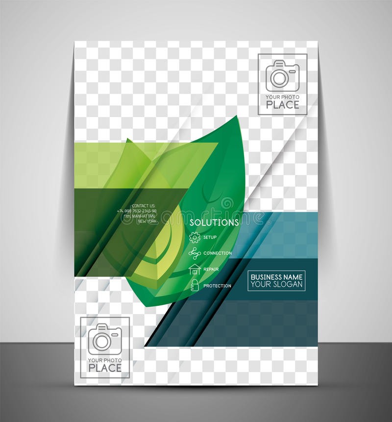 Green Nature Concept Print Template stock illustration
